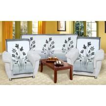 Přehoz na sedací soupravu Karmela 3+1+1 květy šedé Brotex