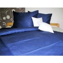 Luxusní saténové povlečení Traventina tmavě modré 70x90 - 140x200cm Veratex
