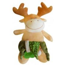 Bobo Baby Plyšová hračka s chrastítkem a kousátkem -Losík
