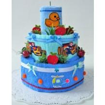Textilní dort dětský - pro chlapce