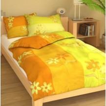 Povlak bavlna 70x90cm Kopretiny žluté, Výběr zapínání: nitěný knoflík