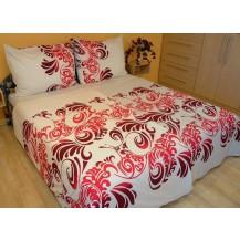 Prodloužené povlečení bavlna 140x220, 70x90cm Ella růžová, Výběr zapínání: zipový uzávěr