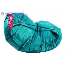 Sedací pytel 189x140 comfort s popruhy sea green
