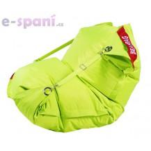 Sedací pytel 189x140 comfort s popruhy fluo limet Beanbag