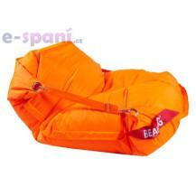 Sedací pytel 189x140 comfort s popruhy fluo orange Beanbag