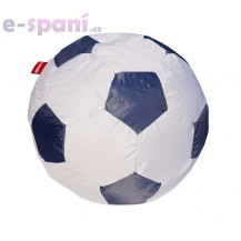 Sedací vak fotbalový míč 90 cm - gray Beanbag
