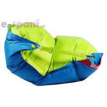 Sedací vak 189x140 duo limet - turquoise Beanbag