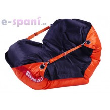 Sedací vak 189x140 duo orange - black Beanbag