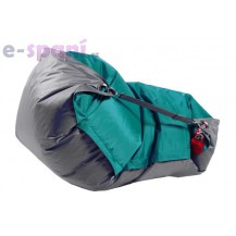Sedací vak 189x140 duo sea green - gray Beanbag