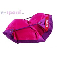 Sedací vak 189x140 duo pink - purple