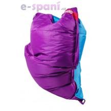Sedací vak 189x140 duo purple - turquoise Beanbag