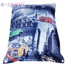 Designový sedací vak 189x140 City 2 s popruhy Beanbag