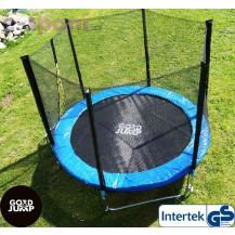 GoodJump 3UPE trampolína 244 cm s ochrannou sítí + žebřík Beanbag