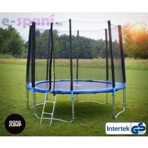GoodJump 4UPE trampolína 305 cm s ochrannou sítí + žebřík + krycí plachta Beanbag - Výprodej