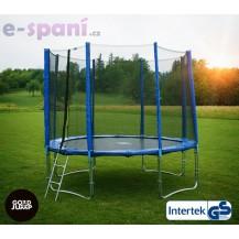 GoodJump 4UPVC trampolína 305 cm s ochrannou sítí + žebřík + krycí plachta Beanbag - Výprodej